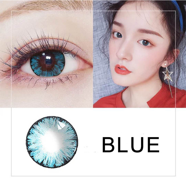 Beautiful Pupil Color Contact Lenses Monthly Throw Female Path 14.5mm Cute Multicolor Party Gift Cartoon Girl Decoration Cosplay 4