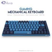 Original AKKO 3084 SP océan étoile jeu mécanique clavier 84 touches cerise MX commutateur côté lettre ordinateur Gamer Type C Programmable