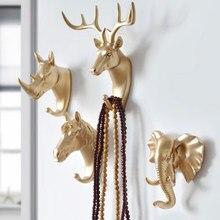 Hak do zawieszania na ścianie poroże jelenia ścienny wieszak na kurtki na ubrania samoprzylepne stojaki ekspozycyjne wieszak na klucze schowek na ścianę rogi wieszaki