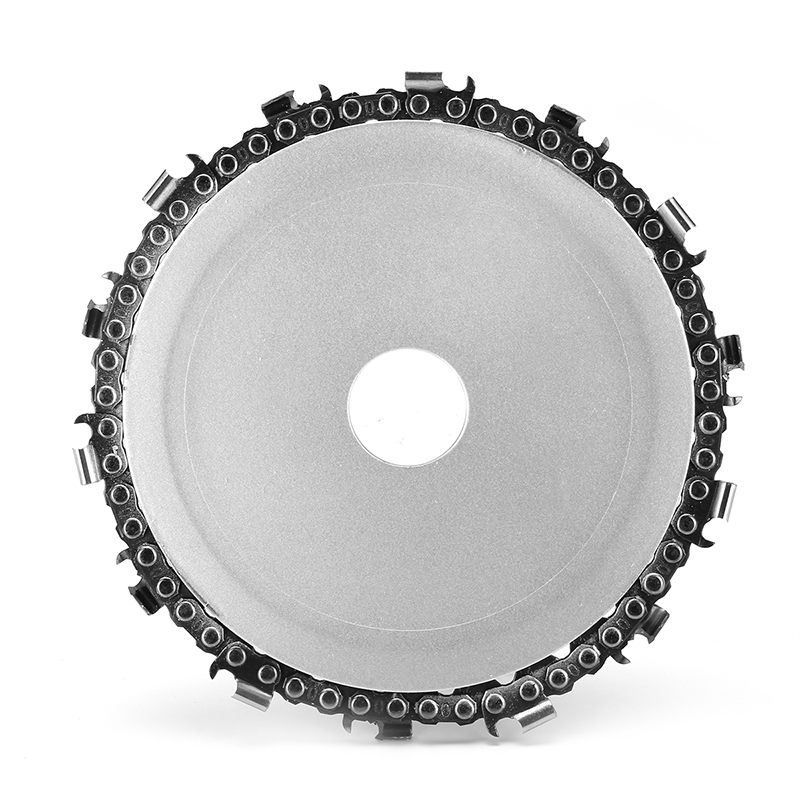 Doersupp 5 Inch 14 Teeth Chain Plate Angle Grinding Chain Disc Wheel Wood Carving Disc For Angle Grinder