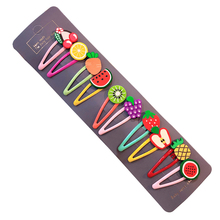 10/15 Pcs/Set Girls Cute Cartoon, Animals, Fruits 5 cm Hairpins
