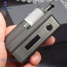 SXK Stealth 60W mod z sxk Taifun GTR RTA vape papieros 0 91 ekran OLED vape fit 18650 baterii pióro mechaniczne zestaws postawy polityczne w YFTK tanie tanio SUB TWO Wymienne SXK Stealth 60W kit Metal 23mm 316 stainless steel PC pei