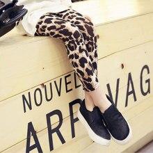 Kids Leggings Pants Leopard-Print Girls Children Trousers Autumn Fashion Spring for Wrm