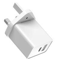 18W USB C 2 Port ładowarka PD z QC zasilania portu dostawy dla iPhone 12 Pro SE Xs Max XR X iPad dla AirPods Google Pixel tanie tanio FARAJIAJ NONE Samsung adaptacyjne szybkie ładowanie CN (pochodzenie)