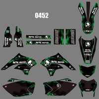 motorcycle accessories For KAWASAKI KLX450 2008-2018 Graphics Decals Stickers Custom Number Name 3M Full  Motorcycle Backgrounds Stickers Accessories (1)