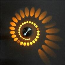 LED Wall Lamp Spiral Effect Modern Light 3W Fixture Ceiling Luminous Lighting Sconce for Indoor Decoration KTV Bar