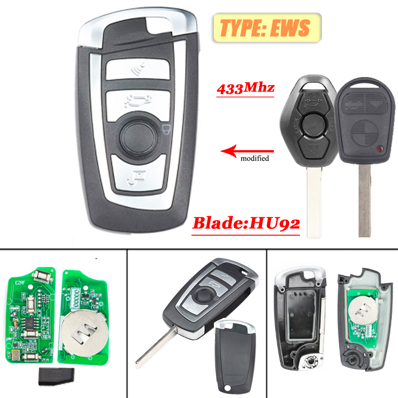3 Button Remote Key Borad  433MHz ID7944 For EWS Bmw  3 5 6 7 X3 X5