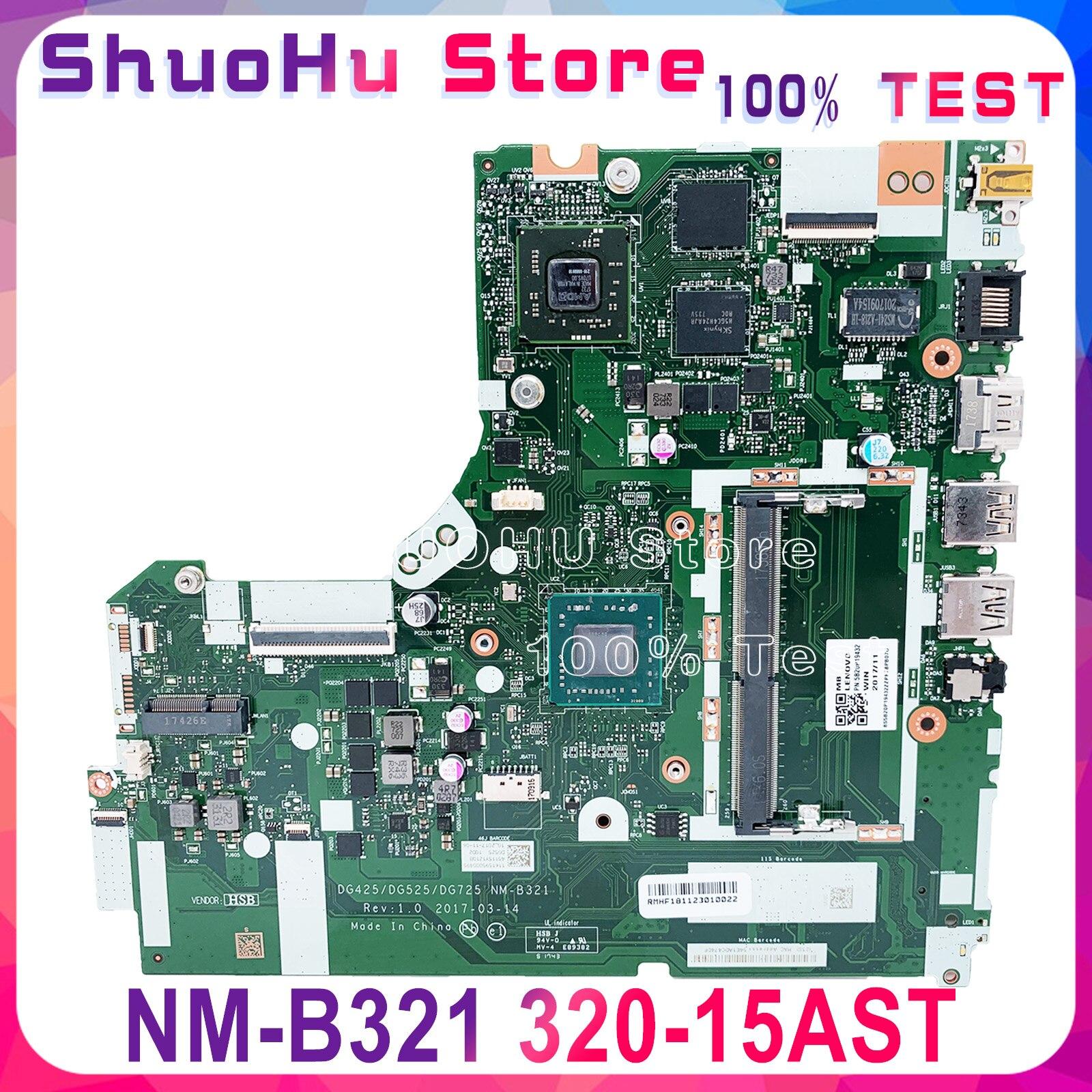 KEFU NM-B321 Motherboard For Lenovo 330-15AST 320-15AST Motherboard DG425 DG525 DG725 NM-B321 AMD GPU Test Original Work