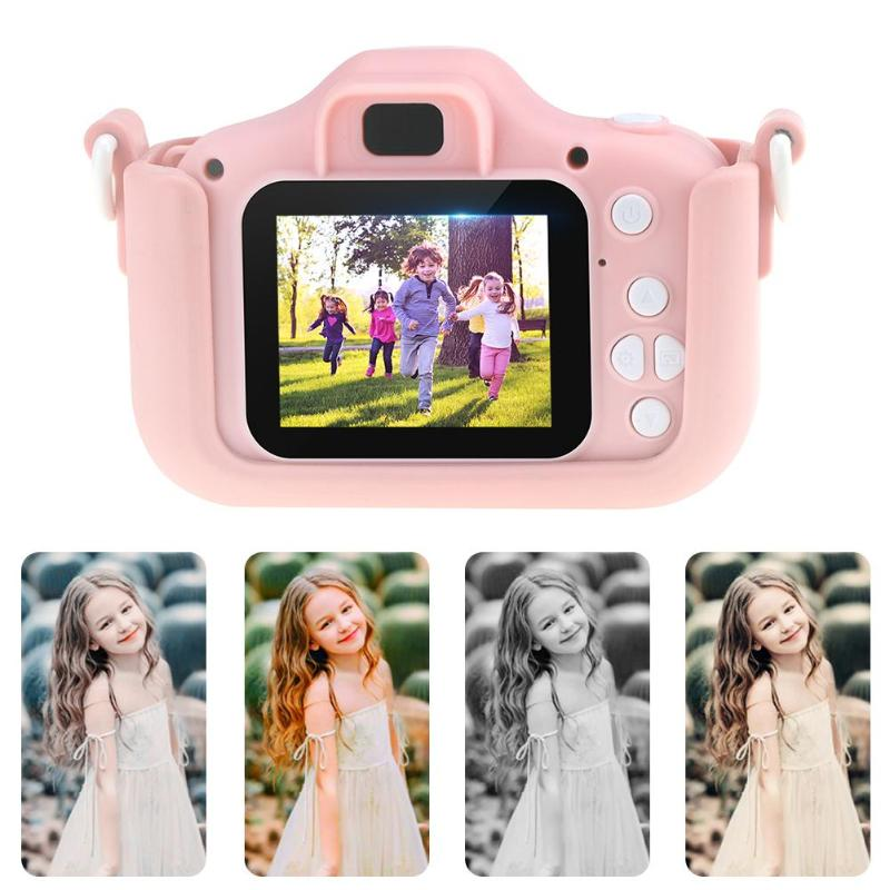 Q1 2.0 Inch Screen Kids Camera Mini Digital 12MP Photo Children Camera With 600 MAh Polymer Lithium Battery Toys Gift