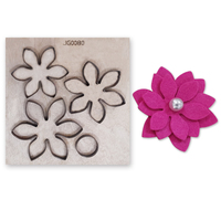 new Flower Stitch wood DIY moulds die cut accessories for Leather paper felt Steel Punch leather crafts Wood laser dies
