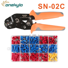 IWSS SN-02C crimping plier wire stripper tool 280Pcs Assorted Insulated Spade Crimp Cable Terminal Electrical Wire Connector Set цена