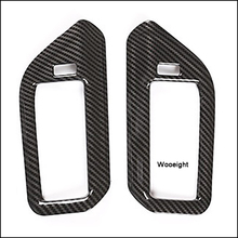 Wooeight 2Pcs ABS Rear B-pillar Air Vent Outlet Frame Decoration Cover Trim Carbon Fiber Style Sticker fit for BMW X5 2019 цены