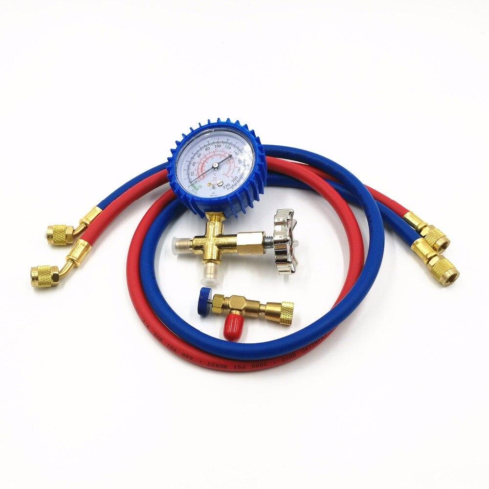 Vacuum Pump Accessories HS-466AL Air Conditioning Refrigerator Refrigerant Low Pressure Gauge Pressure With Safety Valve