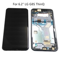 For 6.2 LG G8S ThinQ LCD Display + Touch Panel Digitizer Assembly For LG G8S ThinQ Display With Frame/NO Frame Both Repair Par