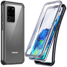 Shockproof Case Bumper Etui for Samsung S20 Ultra Case 360 Protect Clear Back Cover Frame for Samsung Galaxy S20 Plus Case Coque tanie tanio c-ku Aneks Skrzynki 360 Protection Crystal Etui Back Case Screen Protector Geometryczne Matowy Zwykły Odporna na brud Anti-knock