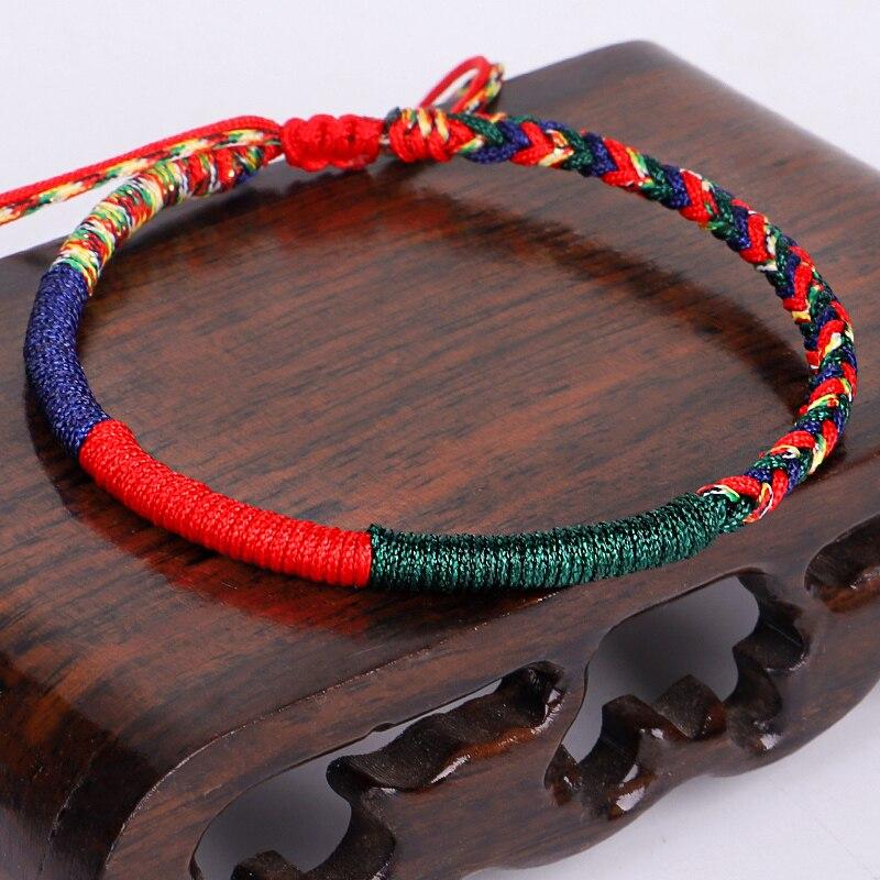 Handmade Tibetan Buddhist Lucky Friendship Bracelets love Charm Bracelets & Bangles For Women Men 4Colors Rope Amulet Gift