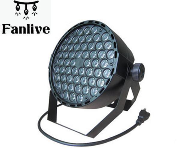 4pcs 54 RGBW Led Par Light DMX Stage Lights Wash Dimming Strobe Lighting Effect Lights For Disco DJ Party AC110-220V