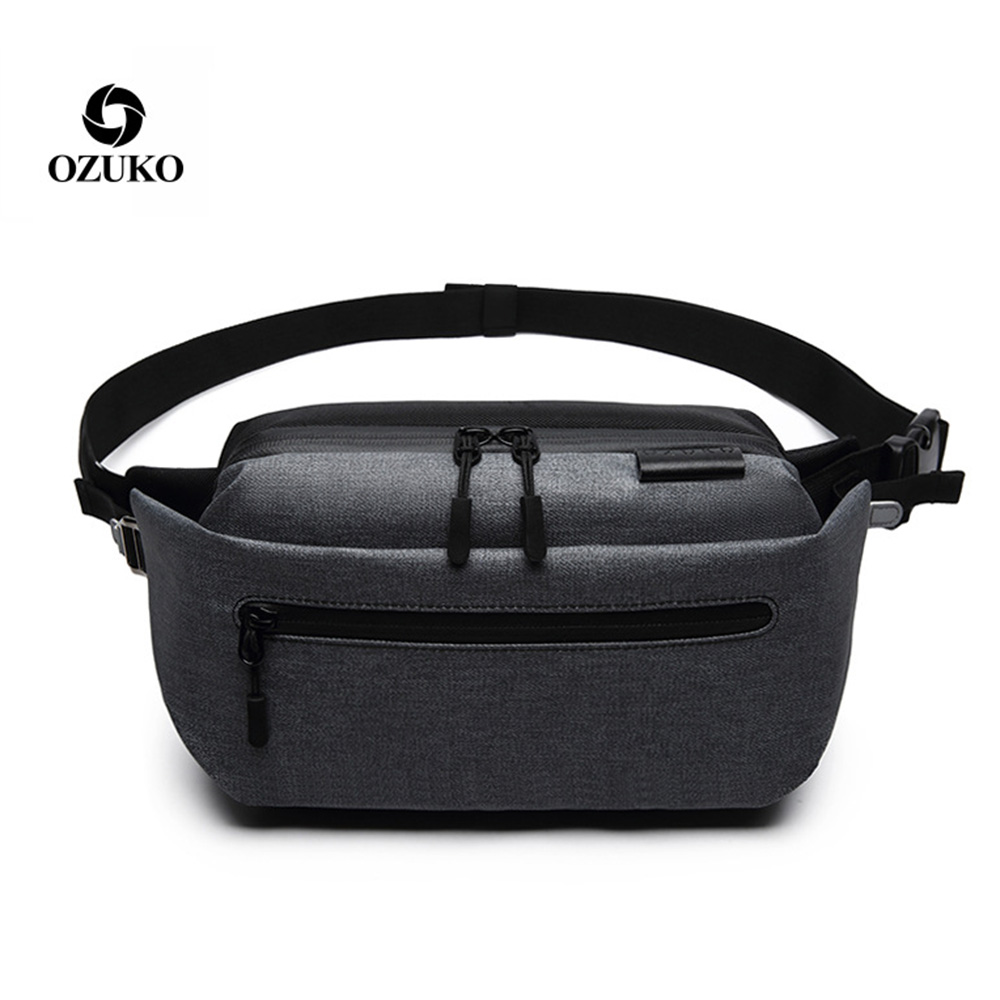 Ozuko Single Shoulder Bag Crossbody Bag New Style Leisure Man Chest Bag Waterproof Sports Large Capacity Single Shoulder Bag