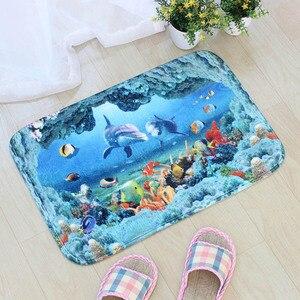 Image 4 - 40*60cm 비치 쉘 바닥 매트 비 슬립 스웨이드 소프트 카펫 도어 매트 주방 거실 바닥 매트 침실 장식 바닥 매트.