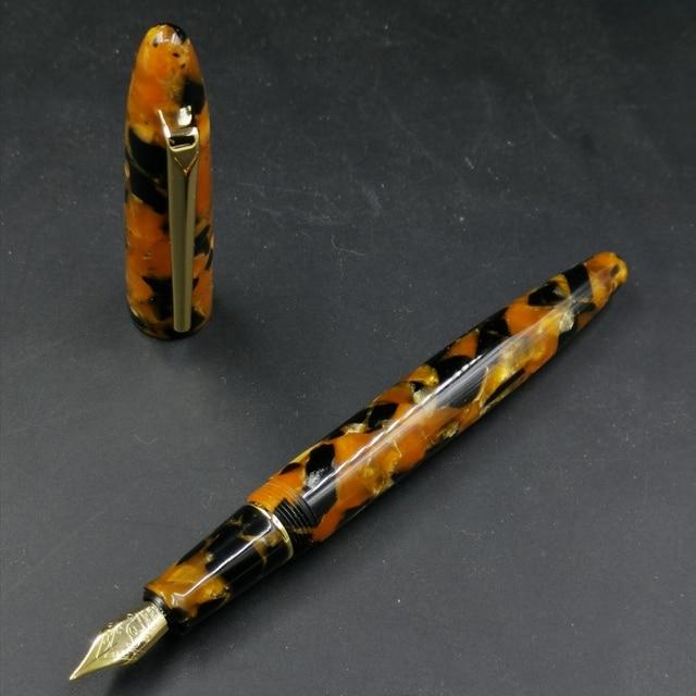Пользовательские смолы авторучка чернильная ручка с #5 F Шмидт перо и Шмидт конвертер Канцтовары офисная школа