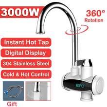Мгновенный Tankless Электрический нагреватель горячей воды кран кухня 360 ° поворотный нагреватель воды с Светодиодная панель температурного контроля