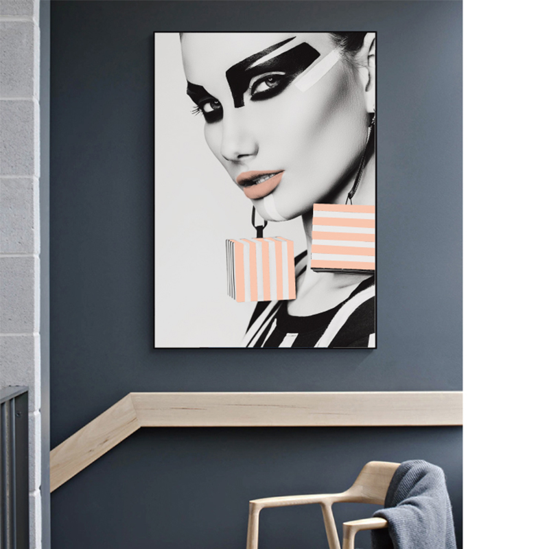 Modern Girl Posters and Prints Wall Art Fashion Beautiful Woman Canvas Painting Nordic Picture for Living Room Decorative in Painting Calligraphy from Home Garden