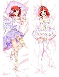 Чехол-подушка с аниме «lovelive» для девочек, декоративный Чехол-Подушка для девочек, двусторонний чехол из персиковой кожи