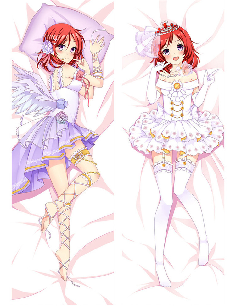 <font><b>12</b></font> Styles HOT Anime lovelive Body Pillow Cover Case <font><b>Sexy</b></font> Girls Decorative Pillowcase Peach Skin 2 Way Throw Pillow case image