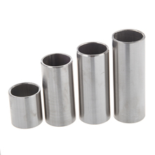 4pcs Stainless Steel Guitar Slides Set / Silver Hard-chrome Plated