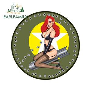 EARLFAMILY 13cm x 13cm For Pin Up Girl Personality Creative Car Stickers Fashion Fine Decal 3D Waterproof Custom Printing Decor