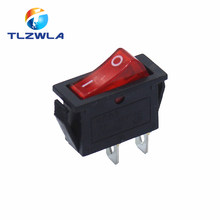 1PCS KCD3 ON-OFF 16A 2Pin Dot Illuminated SPST Snap-In Rocker Switch Single Pole 2 Position With 12/220 Volt LED(China)
