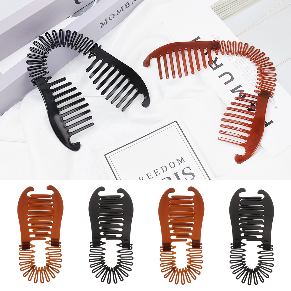 1PC Woman Elastics Hair Braider Banana Clip Scorpion Type Hair Holding Tool Ponytail Rubber Bands Hair Accessories Hot