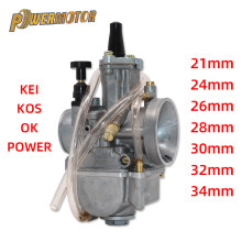 Universal 2T 4TCarburetor Koso OKO Motorrad Carburador PWK 21 24 26 28 30 32 34mm Mit Power jet Für Racing Moto(China)