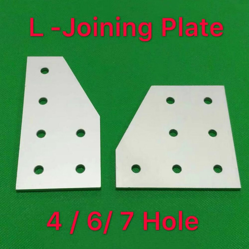 4 / 6 / 7 Hole L Type 2020 3030 4040 2040 3060 4080 4590 Connection Plate Corner Bracket Joint Board For Aluminium Profiles