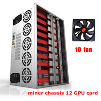 mining rig case Frame GPU ATX chassis 12 Graphics Card Ethereum miner Bitcoin horizontal computer server machine chassis