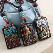 Новая Винтажная, этнический стиль Будда слон подвески и ожерелье s State мужчины t непальское Ожерелье Женщины Мужчины ювелирные изделия