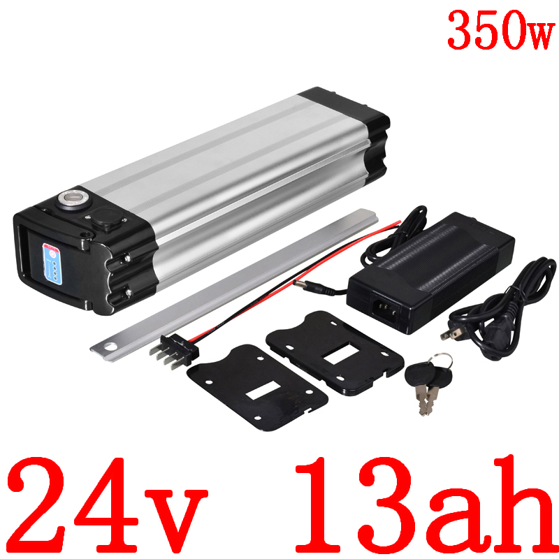 24V 250W 350W Battery 24v 13ah Lithium Battery 24V 10AH 13AH 15AH 18AH 20AH Electric Bicycle Battery With 2A Charger Free Duty