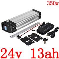 Bateria de lítio 24v 10ah 13ah 15ah 18ah 20ah da bicicleta elétrica com carregador 2a dever livre 24v 250 w 350 w bateria de lítio 24v 13ah