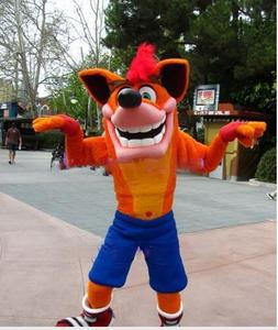 Image 2 - Adult Deluxe Crash Bandicoot Wolf cartoon Mascot Costume outfit Fancy Dress Christmas party advertsing for Halloween Mascot cos
