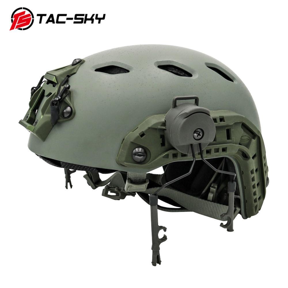 TAC-SKY Tactical Bracket Comtac I Ii Iii Iv Bracket, Suitable For Tactical Helmet ARC OPS-CORE Helmet Track Adapter Bracket  GY