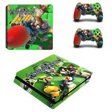 Kingdom Heart 3 Full Cover Faceplates PS4 Slim Skin Sticker Decal Vinyl for Playstation 4 Console & Controller PS4 Slim Skin