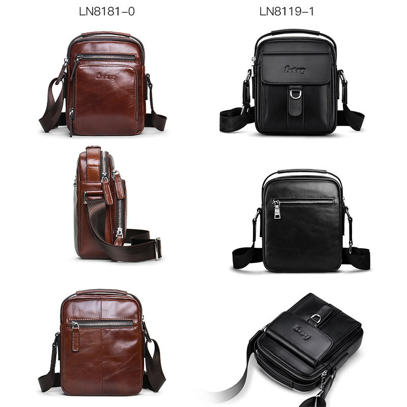Image 2 - Men Bag Crossbody bag 100%genuine Leather Messenger Bag Men Shoulder Brown Bag Handbag Crossbody Vintage Cowhide Travel Male Bag-in Crossbody Bags from Luggage & Bags