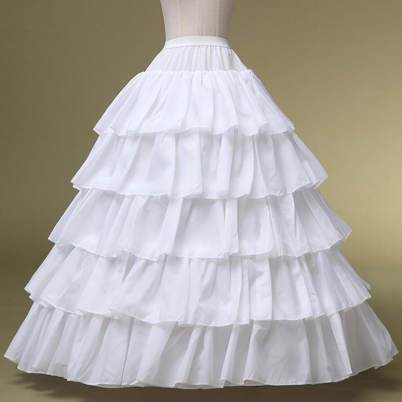 New Arrival 5 Layers Bridal Petticoat For Wedding Dress 4 Hoops White Big Wedding Petticoat Ready For Shipping