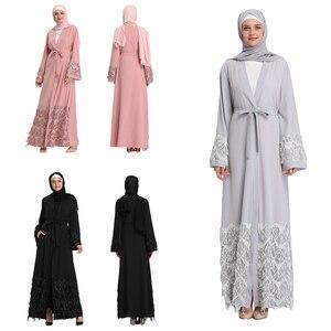 Open Abaya Muslim Sequins Luxury Kimono Maxi Robe Islamic Cardigan Party Evening Ramadan Middle East Dubai Arab Jilbab Prayer