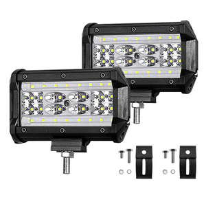 Image 2 - LED Work Light Bar 168W 5inch Headlights for Tractor Boat ATV  SUV Jeep Truck Driving Lamp Combo led Beams Offroad Fog Lights