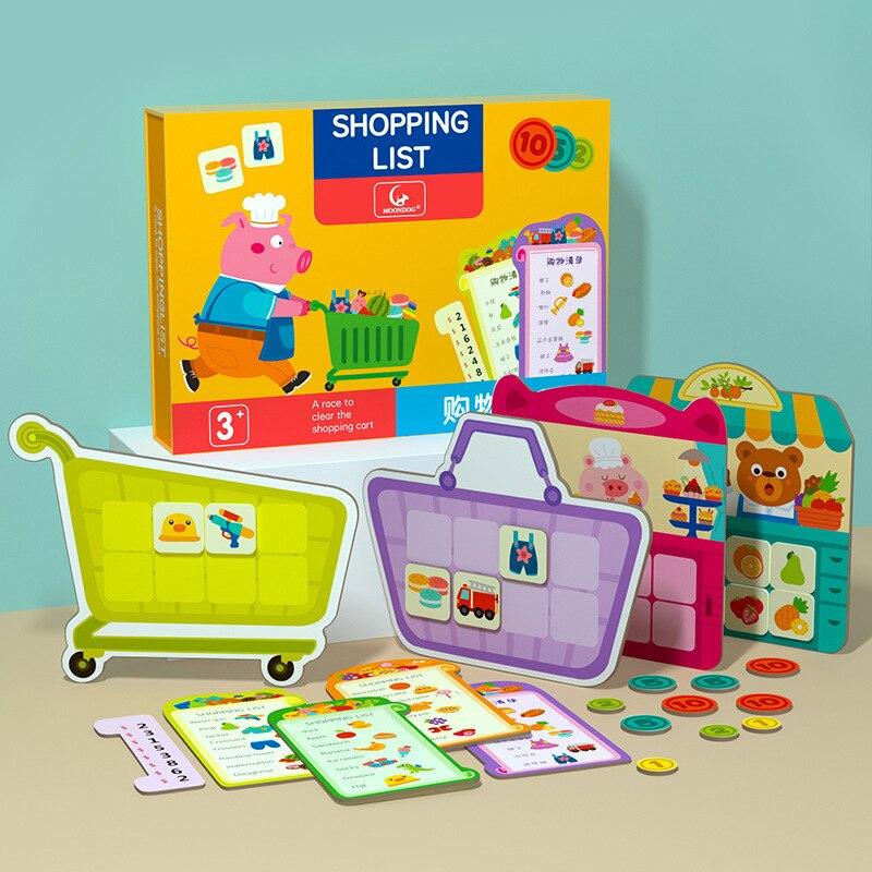 Обучающие игрушки для детей, список покупок, игра-головоломка, обучение мышлению, интерактивные Настольные игры для детей и родителей, обуч...
