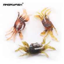 Angryfish 345 г приманки в виде краба тонущие из свинца рыболовная