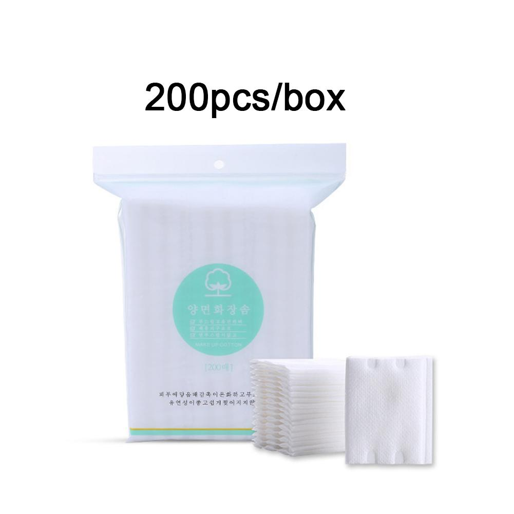 200PCS Pads Cotton Pad Cleansing Cotton Towel Makeup Remover Face Nail Polish Daily Supplies Facial Cotton Makeup Remover Tool in Makeup Remover from Beauty Health