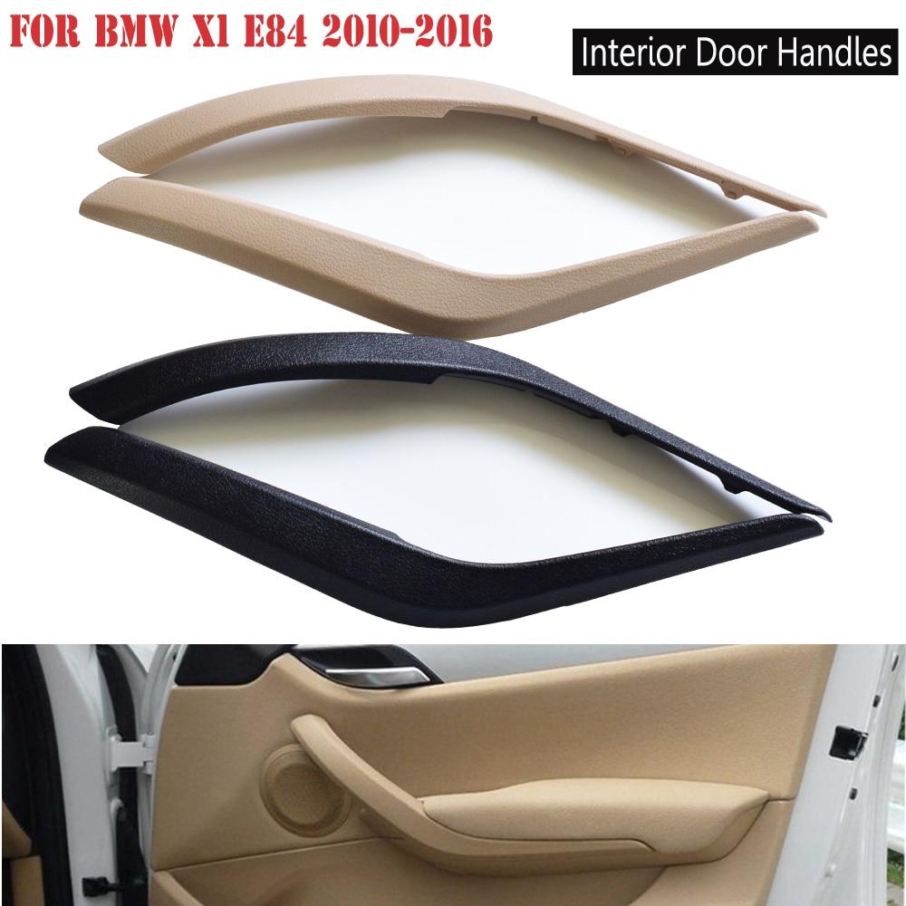 Car Black/Beige Interior Door Handle Panel Pull Trim Cover Car Accessories For BMW X1 E84 16d/16i/18d/20d 2008-2016 51412991778