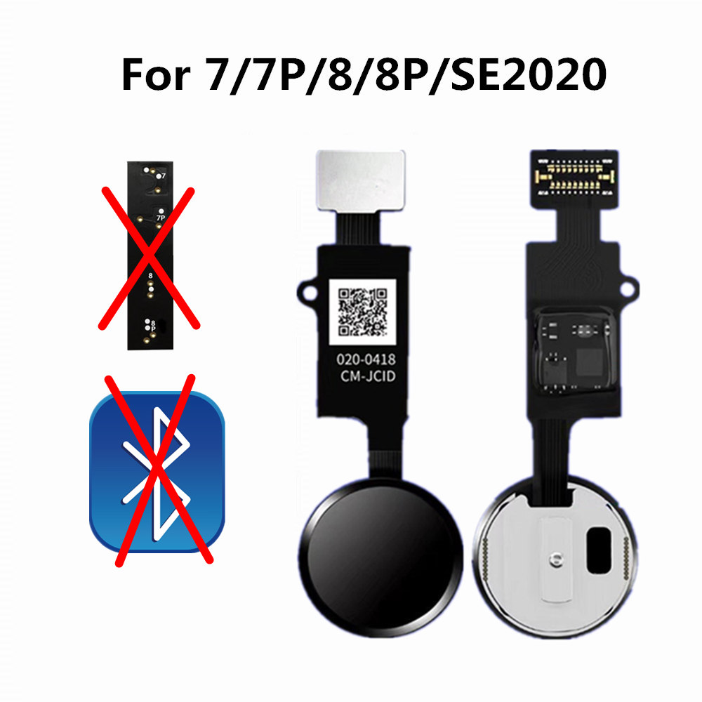 JC New 6th Generation Universal Home Button Flex Fit For iPhone 7 8 Plus SE 2020 Back Return Function No Touch ID Bluetooth